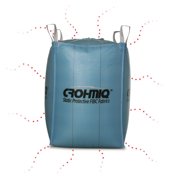 FIBC: Corona Discharge from CROHMIQ Type D Static Dissipative Bulk Bag