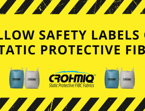 Yellow Safety Labels on Static Protective FIBC