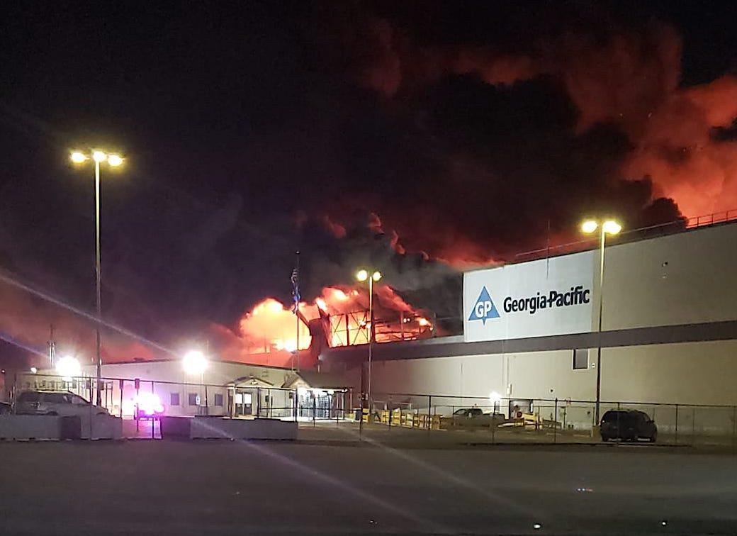 Fire breaks out at Georgia-Pacific Paper Plant